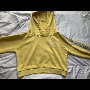 LF Cropped Hoodie Yellow